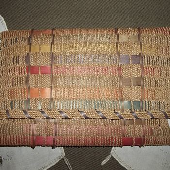 Maine Native American Ash and Hong Kong Cord woven Document Carrier Basket - Native American