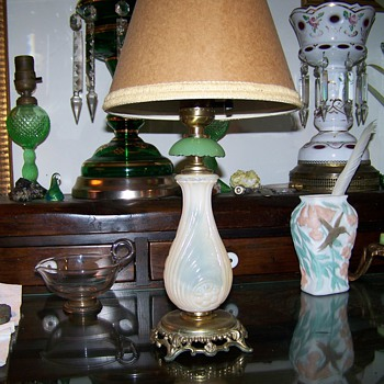 Little Pink and Green Lamp - Lamps