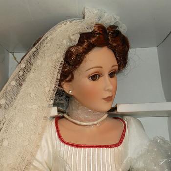 """Harlequin Reader Service Porcelain Doll  """"Harlequin Collectibles"""" Bride doll - Dolls"""