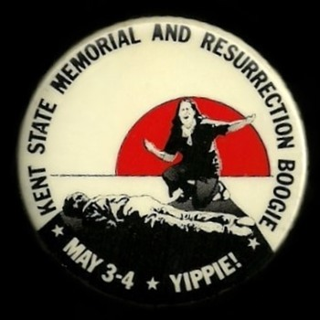 Kent State Shooting YIPPIE BOOGIE Vietnam era Pinback Button