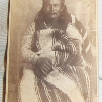 "Native American ""Sub Chief"" carte de visite - Photographs"