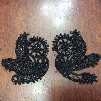 Hand beaded lace dress embellishments  - Accessories