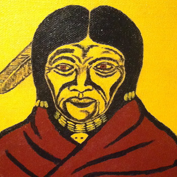Painting from a native artist.