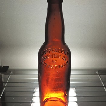 Independent Brewing Company of Pittsburgh Beer Bottle Diamond Glass Embossed Antique Amber Brown Pre-Pro - Bottles