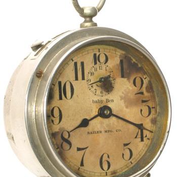 Westclox Baby Ben Alarm Clocks with Dealer Imprint Dial - Clocks