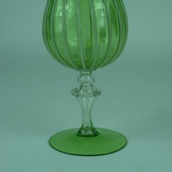 Art Glass Goblet--italian? - Art Glass