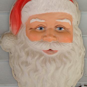Plastic Lighted Santa face