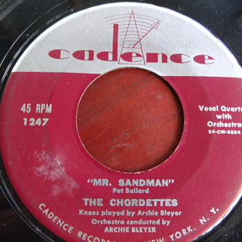 "1954 The Chordettes ""Mr Sandman"" 45rpm - Records"