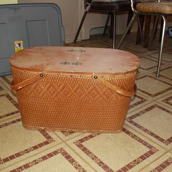 Antique Picnic Basket - Kitchen