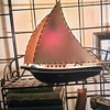 MCM Ceramic Sailboat & Fiberglass Sails