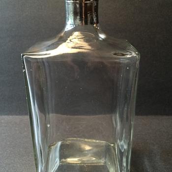 Vintage glass bottle (Government issue of some sort?) - Bottles