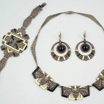 Classic French Deco parure - Fine Jewelry