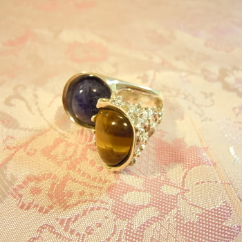 Mid Century Modernist ring signed MQS 925