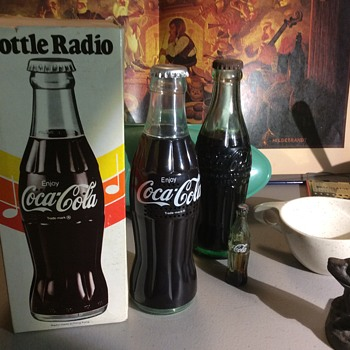 A.m. transistor COKE  bottle radio , radio bottle