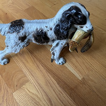 Ceramic English Spaniel with Pheasant - Animals