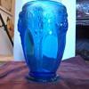 Verlys Signed Pineapple(?) Pattern Glass Vase