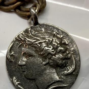 Kimon Dekadrachm Coin Bracelet - Costume Jewelry