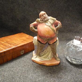 Vintage Royal Doulton England Porcelain Falstaff Figurine  - Figurines