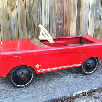 1960's AMF Mustang Pedal Car - Before & After Pictures - Toys