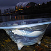 JOBLING PREHISTORIC FISH OPALESCENT  BOWL