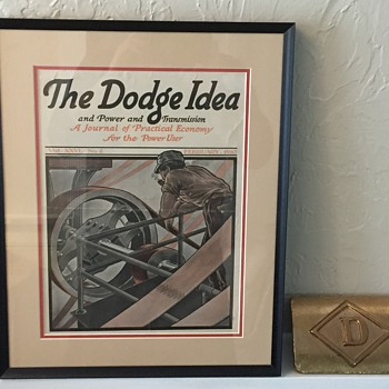 Dodge Mfg. Co Advertising Co & Cast Iron Trademark Label  - Advertising