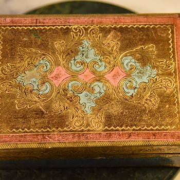 Pretty Carved and Painted Wooden Box - Furniture