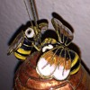 Very Detailed Beehive Christmas Tree Ornament