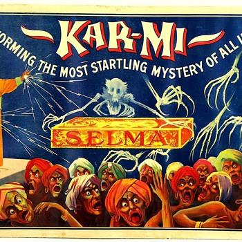"Original 1914 Kar-Mi ""SELMA"" Stone Lithograph Poster"