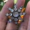 Victorian Silver Moonstone Brooch