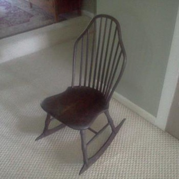 Old Sewing or Child's Rocker - Furniture
