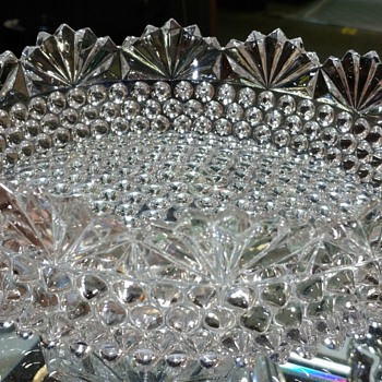 Hobnail And Fan Bowl - Glassware