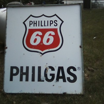 55x48 Phillips 66 PHILGAS Double sided - Signs