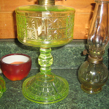 Canary two panel oil lamp - Lamps