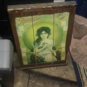 rainier poster - Breweriana