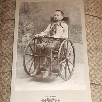 Handicapped child in Wheel Chair cabinet card - Photographs