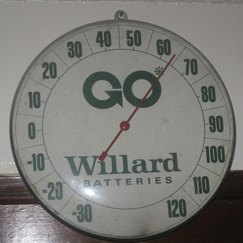 old batteries thermometer  - Advertising
