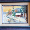 Small oil by A. Bolton    Bolton Studio on back,  canvas from 50's or 60's!