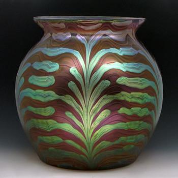 Large 1902 Loetz Pink Phänomen Gre 2/450 Art Glass Vase - Art Nouveau