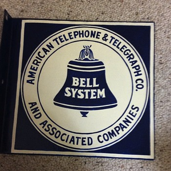 Old double sided Bell sign