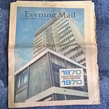 1970- the Birmingham evening mail-centenary edition. - Paper