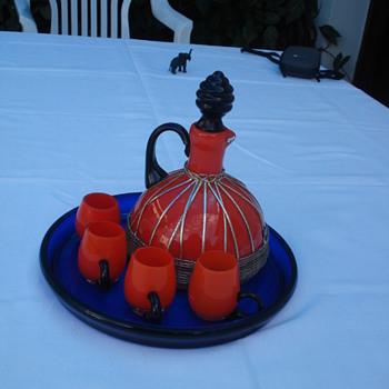A Tango Loetz liquor set? - Art Glass