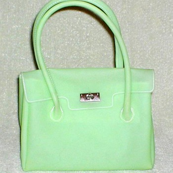 Lime Green Frosted Vinyl Handbag - Bags