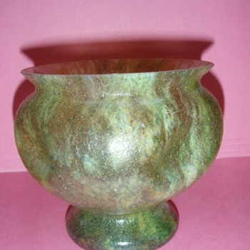 Czech Sandpaper Vases - Art Glass