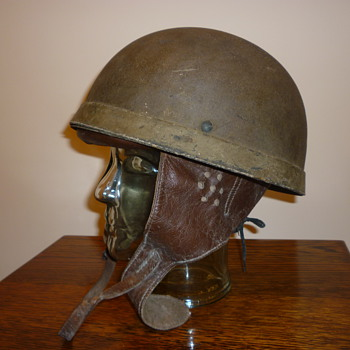 British WWII 1942 Dispatch Riders steel helmet.