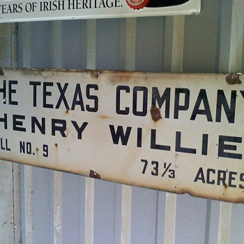 The Texas Company Oil Well Sign