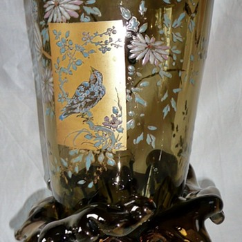 An impressive Auguste Jean vase - Art Glass