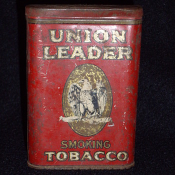 Union leader tobacco tin - Tobacciana