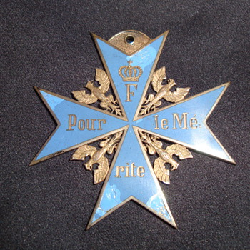 "Prussian Order Pour le Mérite (""Blue Max"")? - Medals Pins and Badges"