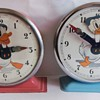 "The two Styles of Bayard Donald Duck Alarm ""Nodder"" Clocks"
