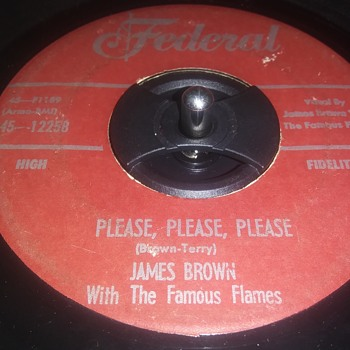 THE FIRST ANYTHING BY MR. JAMES BROWN...ON 45 RPM VINYL - Records
